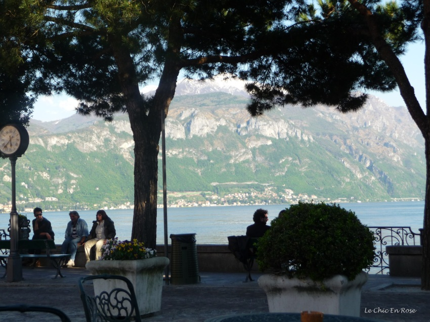 View from the front of Hotel Du Lac Menaggio