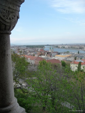 Peering out from the turrets and towers a good lookout point over the Danube