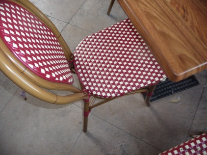 Pretty chairs in the cafe