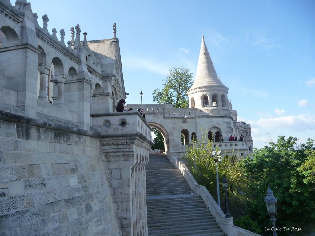 Pale grey stone walls, turrets and towers all part of the beautiful Fisherman's Bastion at Buda