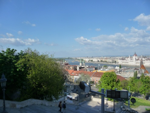 View back across the Danube from Fisherman's Bastion