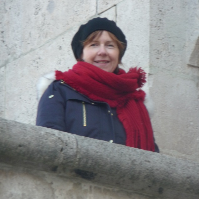 On one of the balconies Fisherman's Bastion