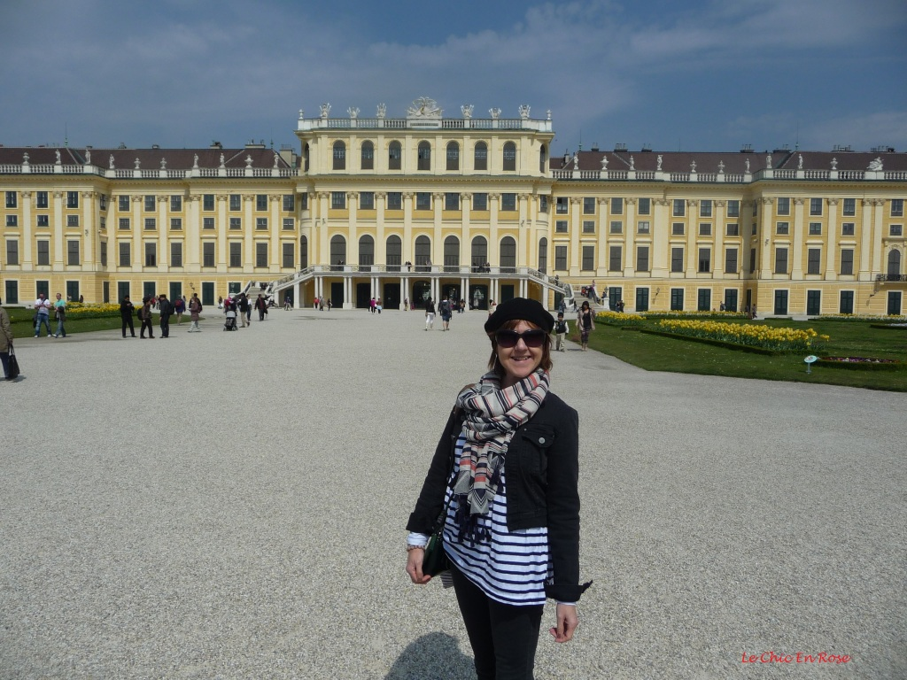In front of Schoenbrunn Palace Vienna