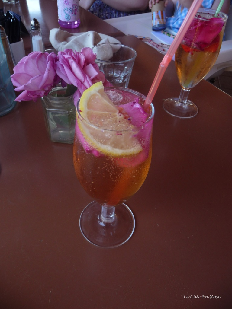 "The delicious ""Rose Petal Lemonade"" served at the Rose Heritage Cafe"