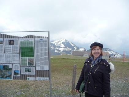 Le Chic En Rose at Rigi Kulm before the mists descended