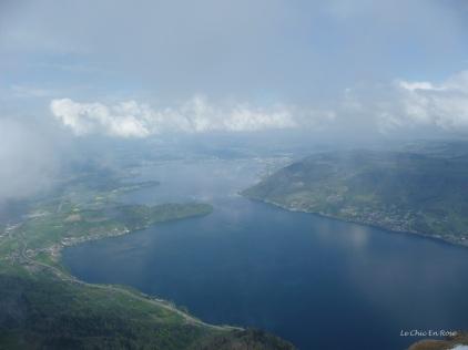 View from Rigi Kulm down towards Lake Zug