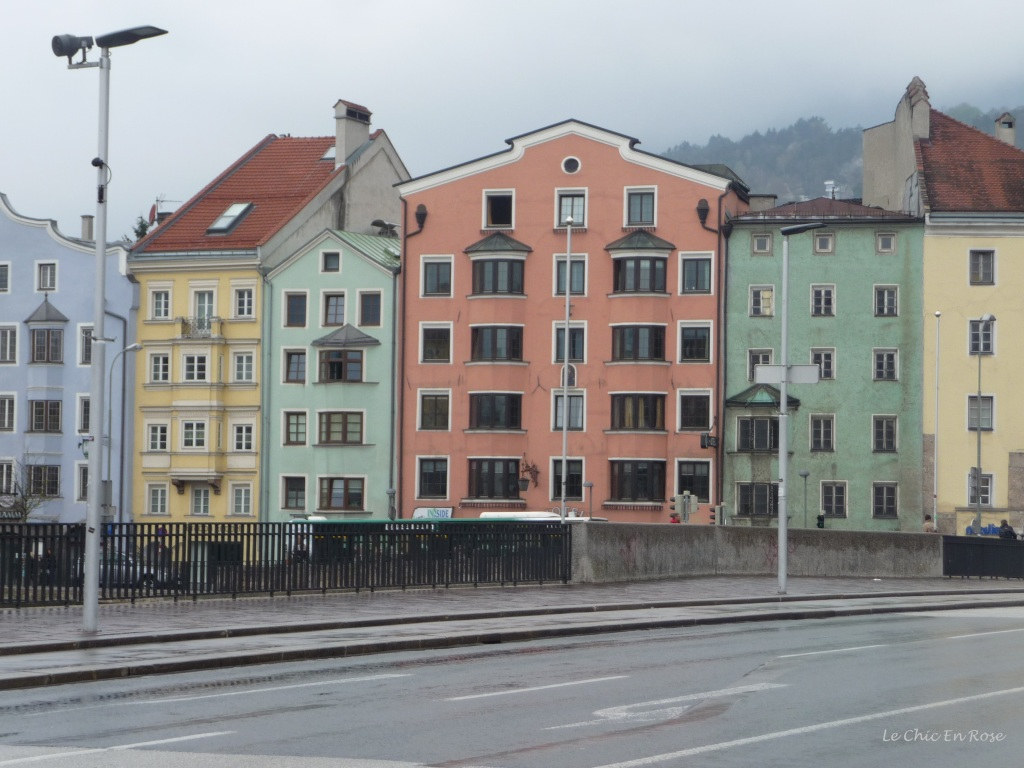 Painted houses along the River Inn, Innsbruck