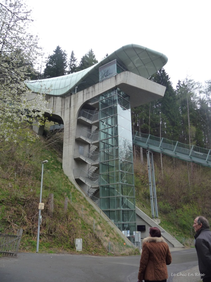 The funicular railway (part of the Nordkettenbahn) takes you up to Alpenzoo