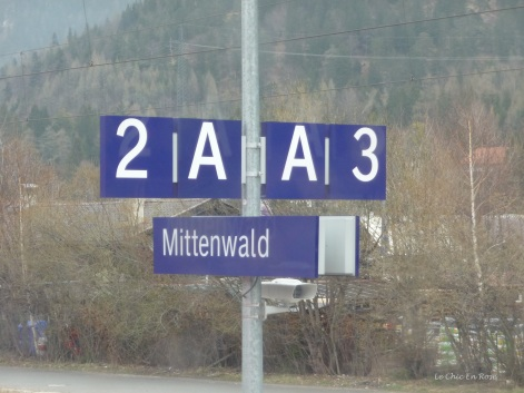 Coming into Mittenwald Station