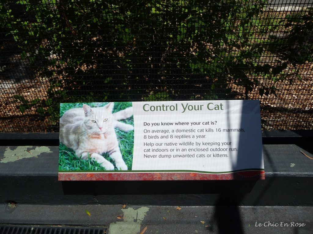 Information poster at the entrance to the Australian Bushwalk section at Perth Zoo