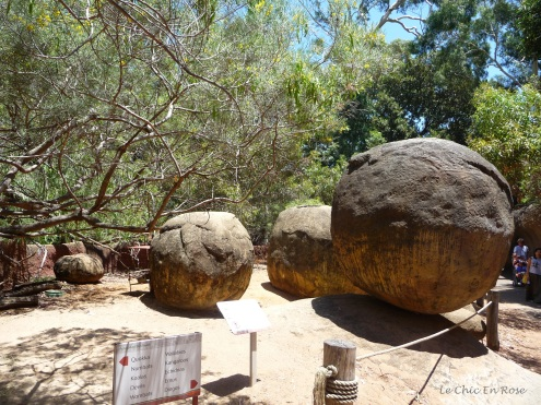Rocks help to recreate a typical bushland setting in the outback