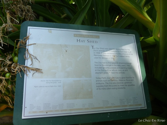 The Hay Shed - part of the Heritage Trail at Perth Zoo