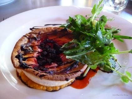 Beetroot tart and salad
