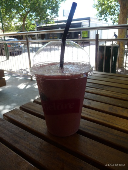 Berry smoothie at Gelare Mends Street South Perth