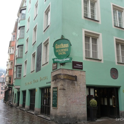 We had a wonderful meal at the Goldenes Dachl Gasthaus on our first night in a typical Tyrolean setting