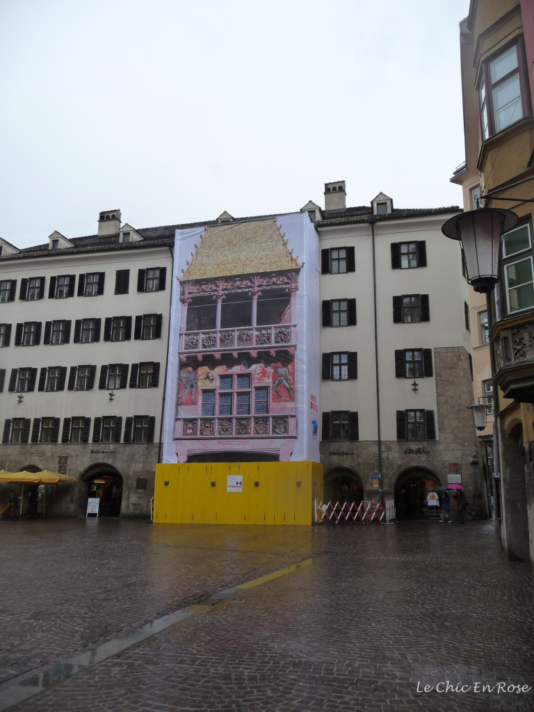 Goldenes Dachl undergoing renovation works!