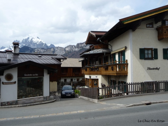 Residential houses typical of the Tyrol region