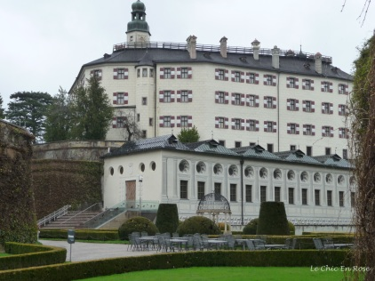 The impressive exterior of the Renaissance castle of Schloss Ambras Innsbruck