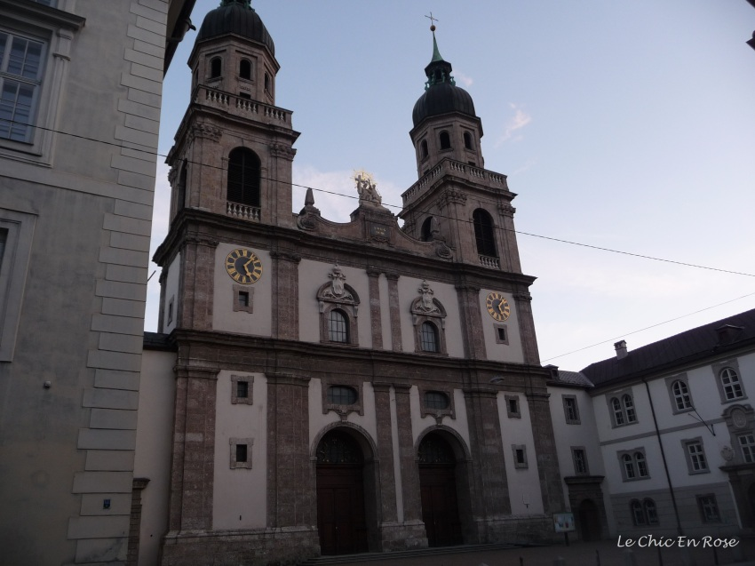 The exterior of the Hofkirche Innsbruck