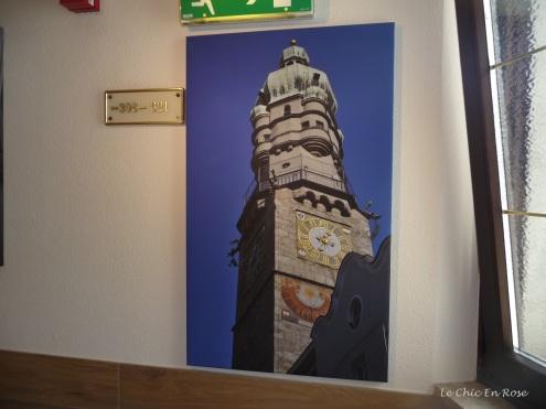 Photo on corridor wall
