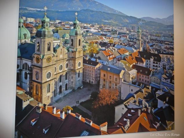 Photo on canvas of Innsbruck Altstadt in the corridor of Hotel Innsbruck