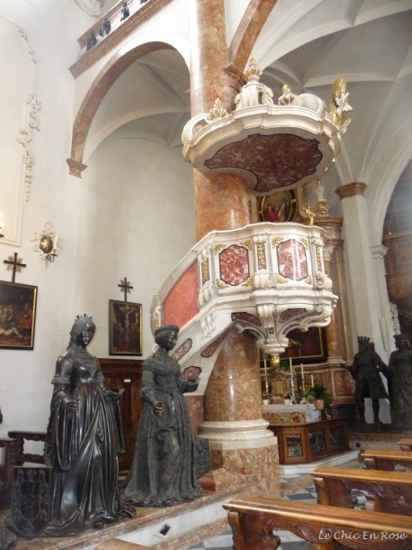 Pulpit and statues Hofkirche Innsbruck