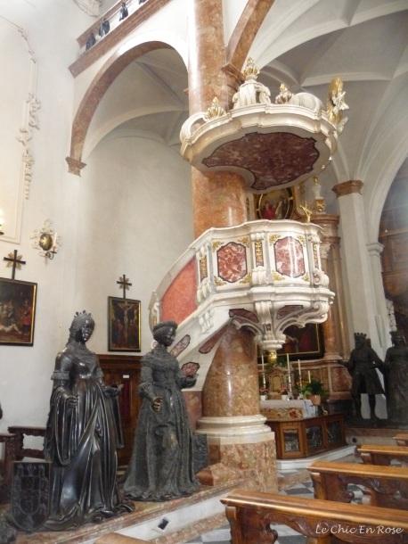 Pulpit and statues Hofkirche Innsbruck