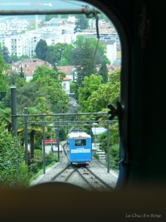 Locarno-Madonna Funicular - trains about to cross!