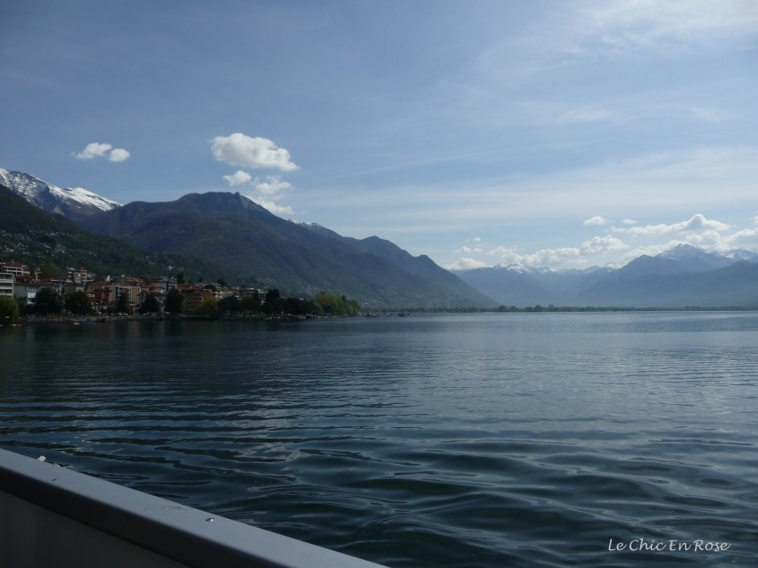 On the boat leaving Locarno
