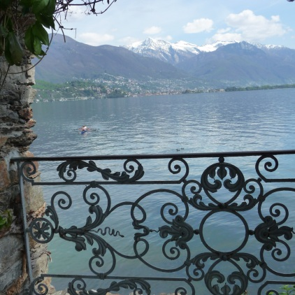 View out to Lake Maggiore from the pool area