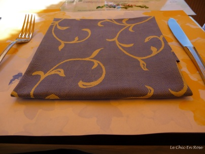The beautiful blue table napkins