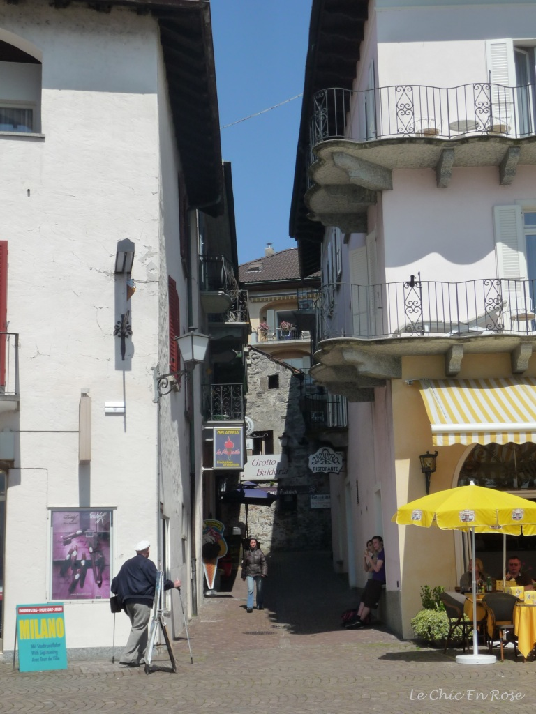 Street leading into Ascona Old Town