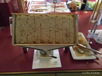 The honeycomb was a daily feature on the breakfast buffet at the Platzl Hotel