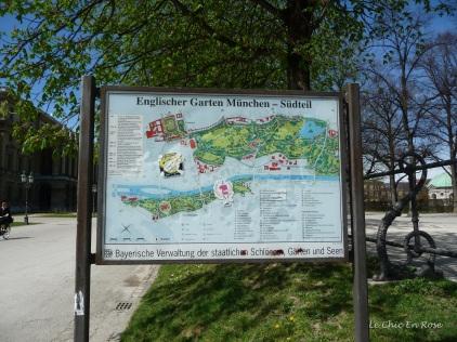 Map of the Englischer Garten