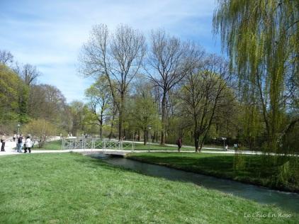 The grounds of the Englischer Garten Munich in spring