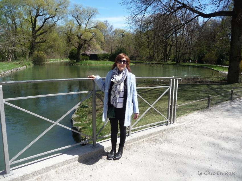 By a lake in the Englischer Garten