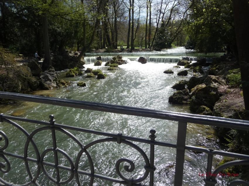 River Eisbach in the Englischer Garten