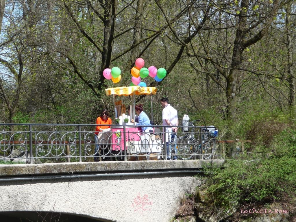 Gelati stall in the Englischer Garten Munich
