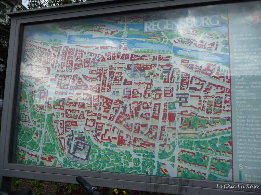 Map of the Altstadt Regensburg