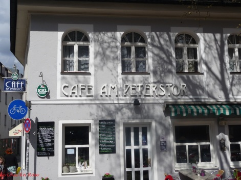 Cute little cafe on the corner of St Peter's Weg Regensburg