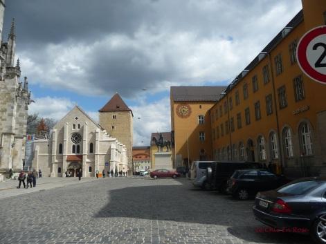 Approaching Domplatz Regensburg