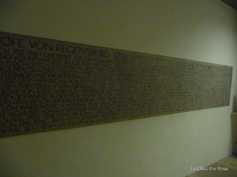 Bishops of Regensburg plaque