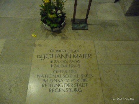 Memorial to Dr Johann Maier