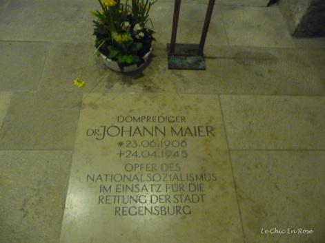 Memorial to Dr Johann Maier