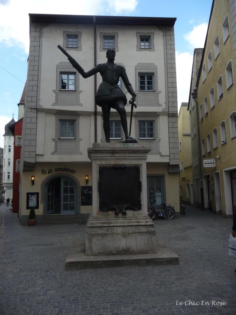 Statue of the Spanish military commander, Don Juan Of Austria in Regensburg