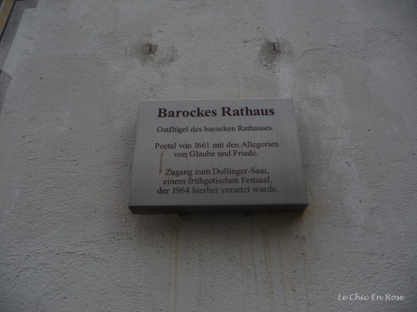 Plaque on Baroque Town Hall