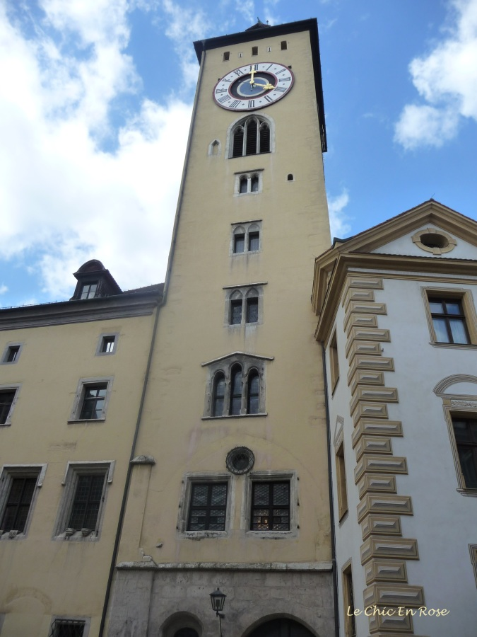 Old Town Hall Tower Regensburg in the Rathaus complex