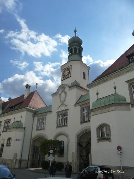 Entrance to the Fuerstliche Brauerei Schloss Emmeram Regensburg
