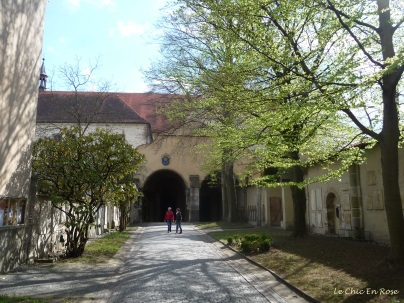 Beautiful grounds of the old monastery