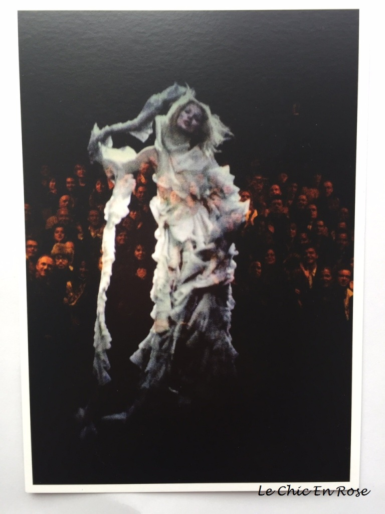 "Postcard of Kate Moss concluding McQueen's ""Widows Of Culloden"" runway show - V&A shop"